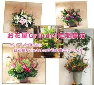 グリンデルの定期装花